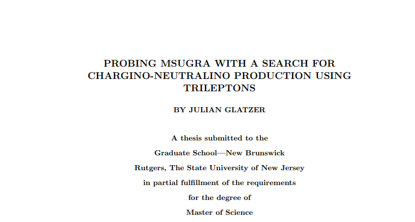 M.Sc. thesis title screenshot